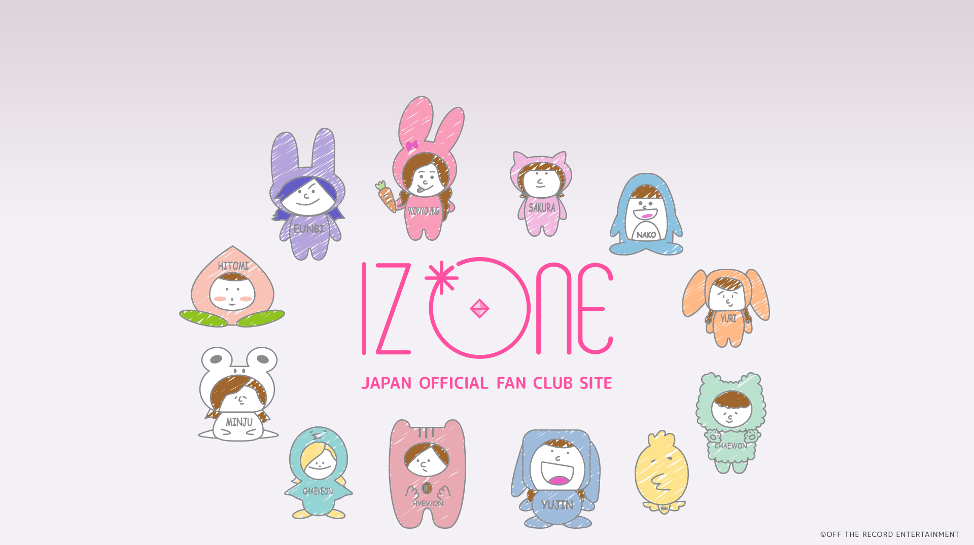 mainvisual IZONE キャラクター
